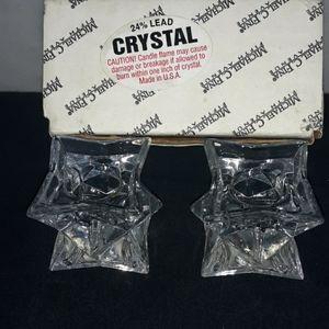 Crystal candleholders